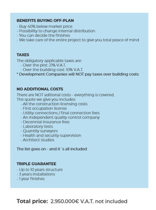 Villa Almendros Payment Plan 2